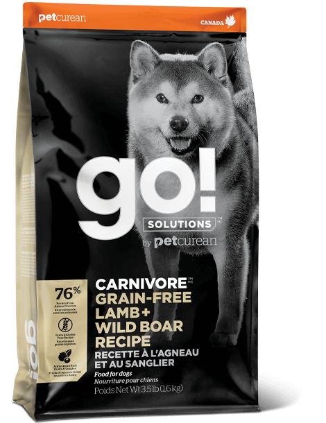 GO! SOLUTIONS CARNIVORE GRAIN FREE LAMB + WILD BOAR RECIPE