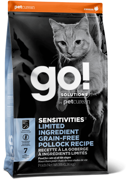 GO! SENSITIVITIES Limited Ingredient Grain Free Pollock recipe for cats