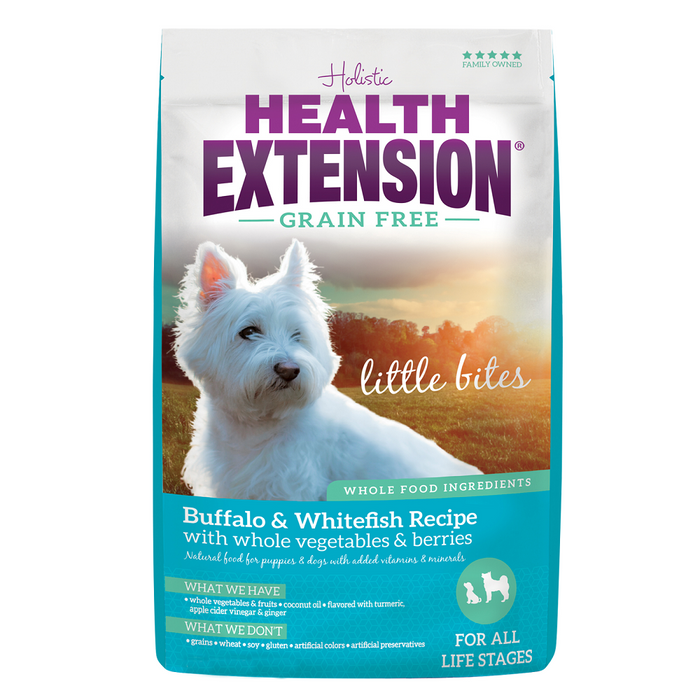 Health Extension Grain Free Buffalo and Whitefish Little Bites Formula