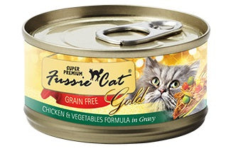 Fussie Cat Gold Super Premium Grain Free Chicken and Vegetables in Gravy Canned Cat Food