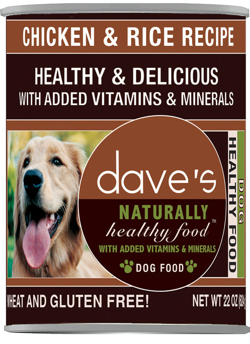Dave's Pet Food Naturally Healthy Chicken and Rice Canned Dog Food