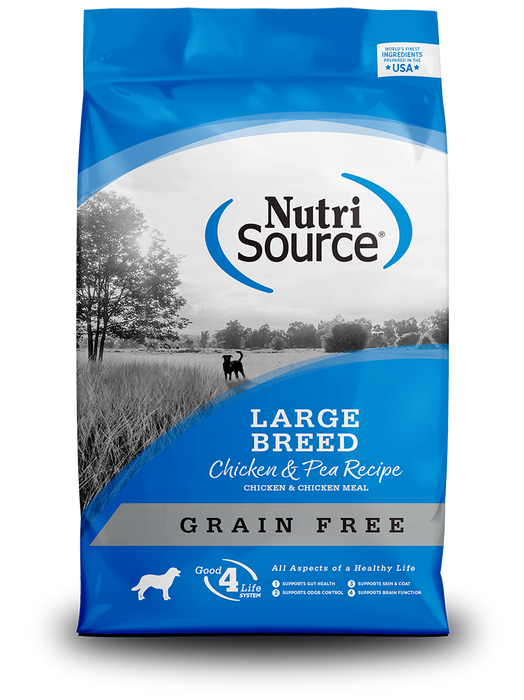 Nutrisource Grain Free Large Breed Chicken and Pea Dry Dog Food