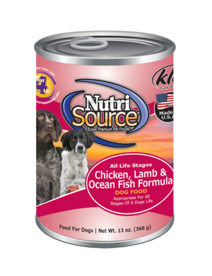 Nutrisource Chicken, Lamb and Ocean Fish Canned Dog Food