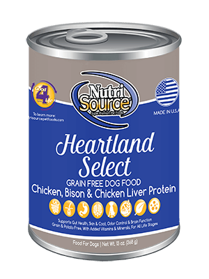 Nutrisource Grain Free Heartland Select Canned Dog Food