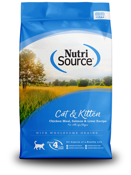 Nutrisource Cat & Kitten Chicken, Salmon & Liver Formula