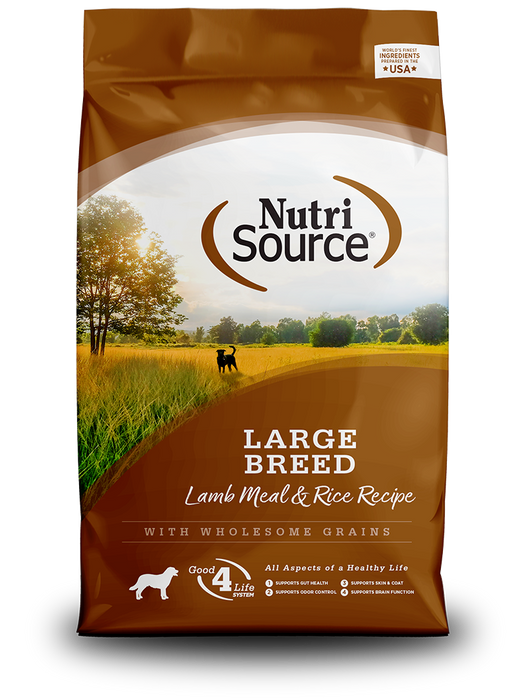 Nutrisource Large Breed Adult Lamb Meal and Rice Dry Dog Food