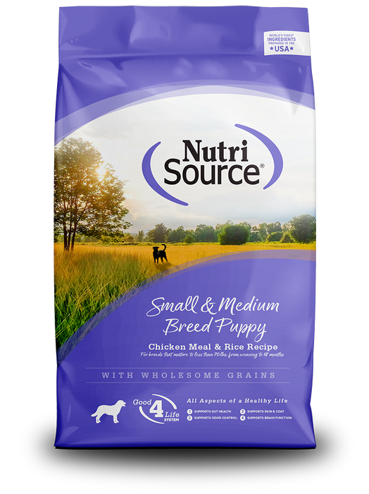Nutrisource Small and Medium Breed Puppy Chicken & Rice Formula