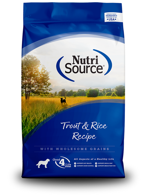 Nutrisource Adult Trout & Rice Formula