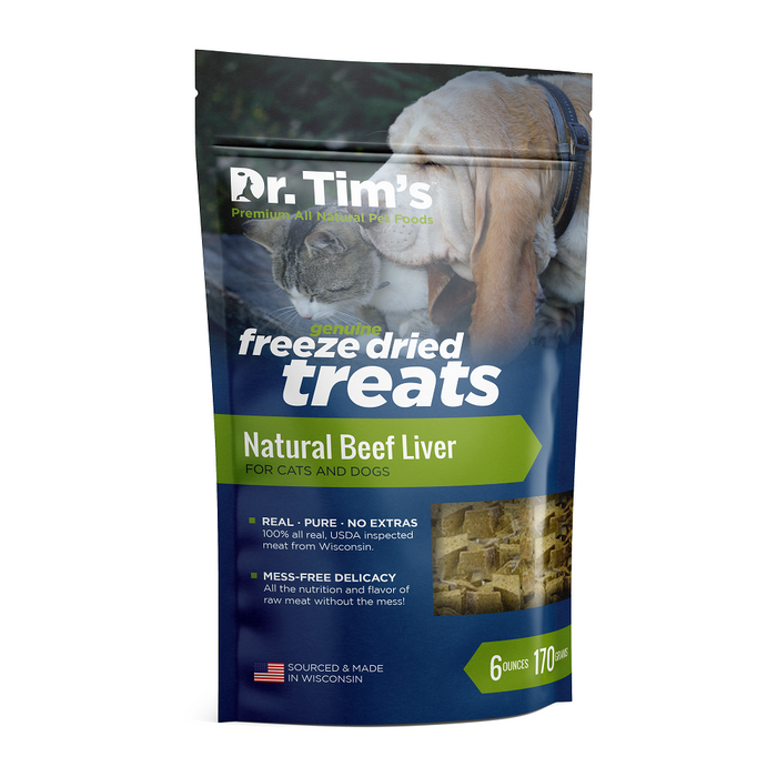 Dr. Tim's Natural Beef Liver for Cats & Dogs
