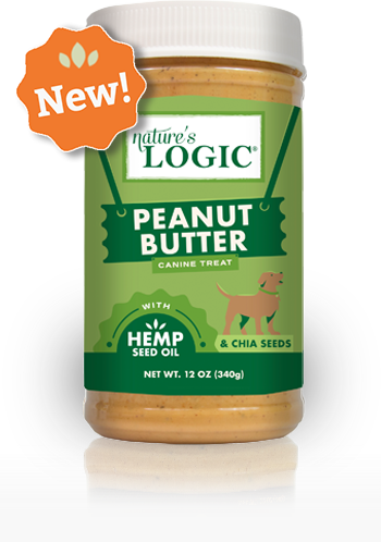Nature's Logic Peanut Butter with Hemp Seed Oil Canine Treat