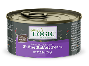 Nature's Logic Rabbit Feast Canned Food for Cats
