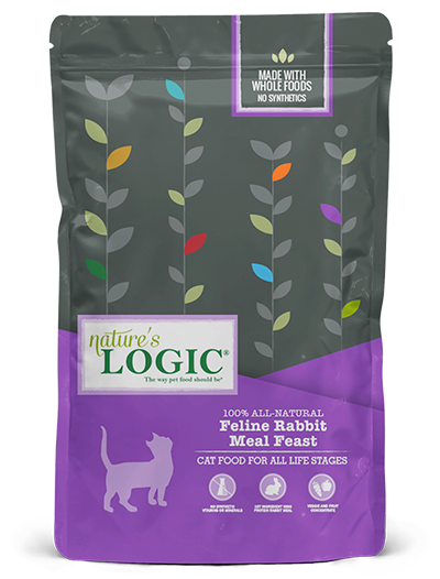 Nature's Logic Rabbit Meal Feast Dry Food for Cats