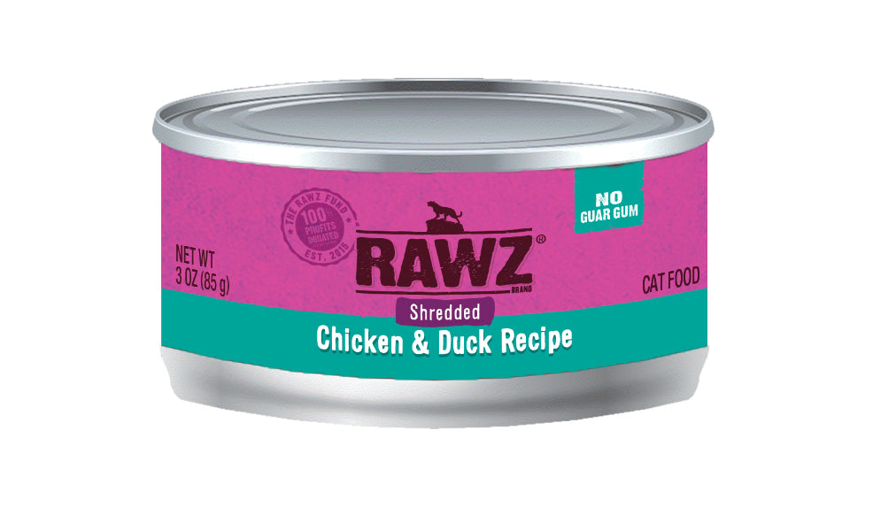 RAWZ Shredded Chicken & Duck Cat Food