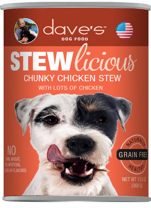 Dave's Stewlicious Chunky Chicken Stew Canned Dog Food