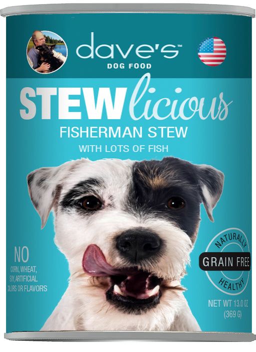 Dave's Stewlicious Fisherman Stew Canned Dog Food