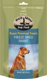 Walk About Premium Freeze Dried Rabbit Treats for Dogs
