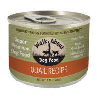 Walk About Quail Recipe Canned Dog Food