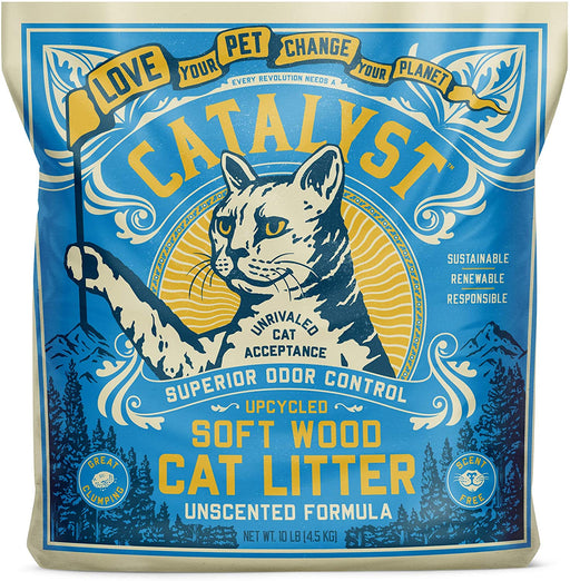Catalyst Pet Soft Wood Cat Litter Unscented Formula