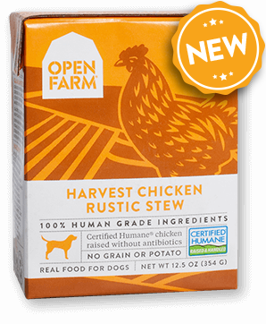 OPEN FARM Grain-Free Harvest Chicken Stew Rustic Blend for Dogs