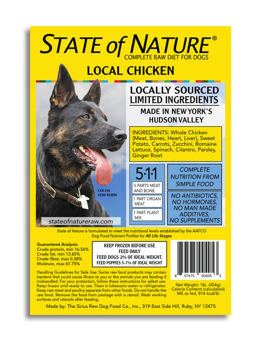 State of Nature Frozen Raw Chicken for Dogs