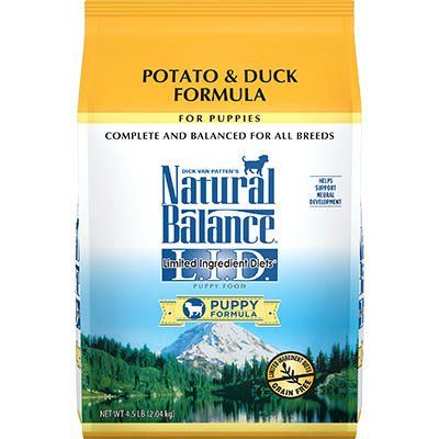 Natural Balance L.I.D. Potato and Duck Puppy Food Formula