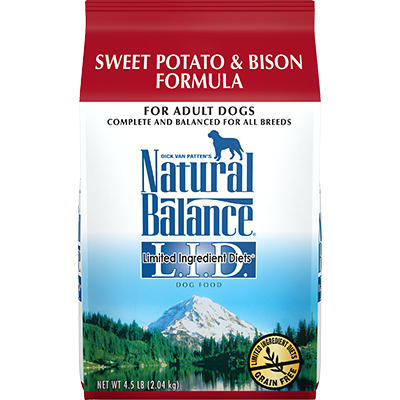 Natural Balance Grain Free L.I.D. Sweet Potato and Bison Dog Formula