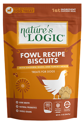 Nature's Logic Biscuits Fowl Recipe for Dogs