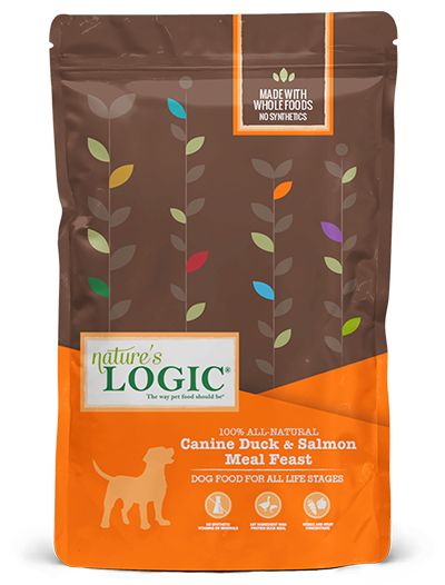 Nature's Logic Duck and Salmon Meal Feast Dry Food for Dogs