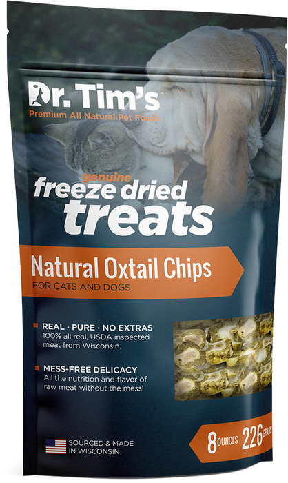 Dr. Tim's Natural Oxtail Chips for Cats & Dogs