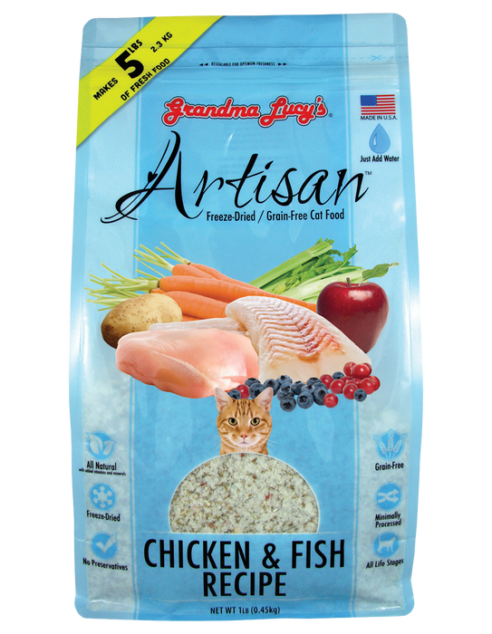 Grandma Lucy's Artisan Chicken & Fish Dry Cat Food
