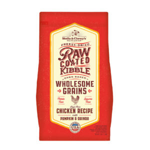 Stella & Chewy's Raw Coated Chicken Recipe with Wholesome Grains Dog Kibble