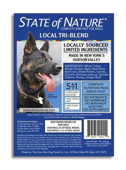 State of Nature Frozen Raw Tri-Blend for Dogs