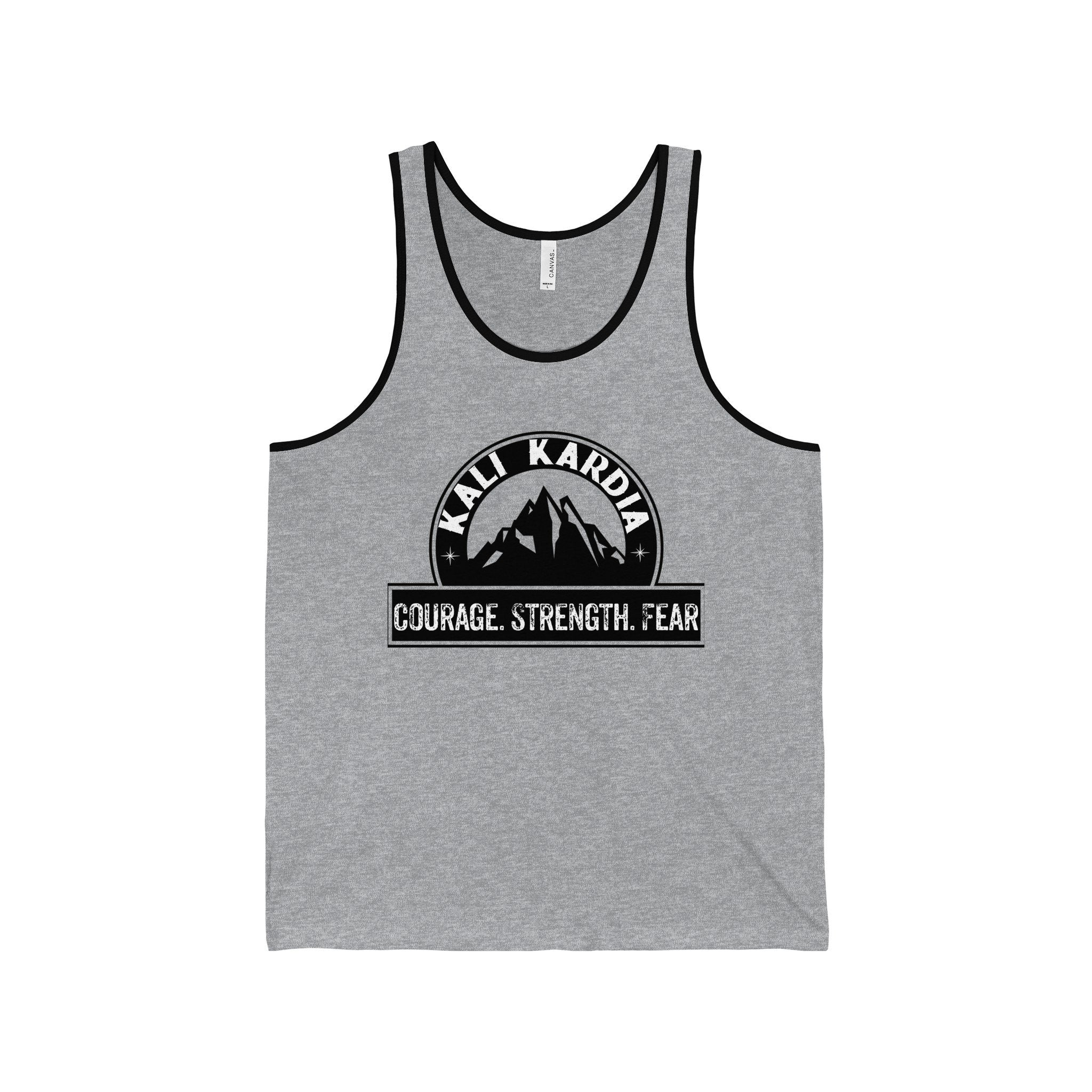 Courage Strength Fear Jersey Tank