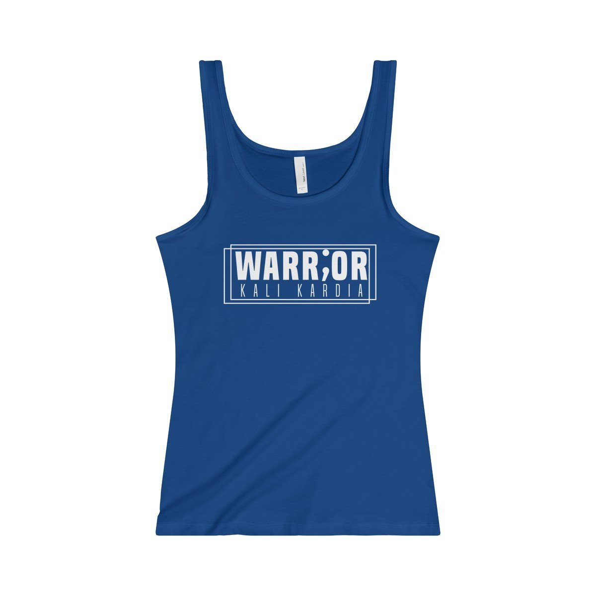 Ladies Stay Strong Because Your A Warrior Slim Fit Jersey Tank