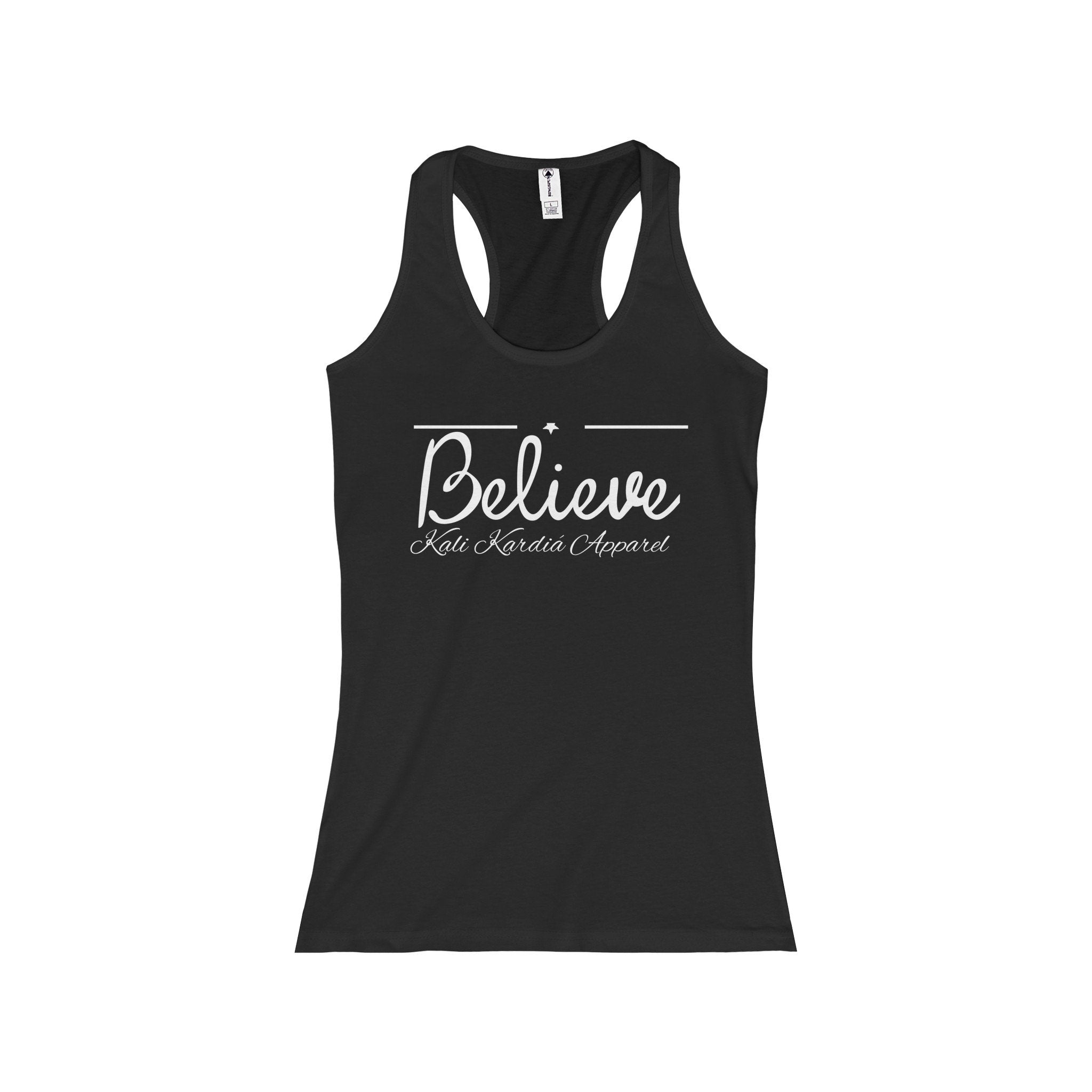 Believe In You- Ladies Racerback Tank