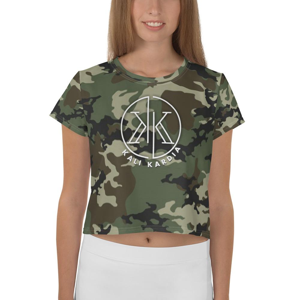 Cutie in Camo Crop Tee