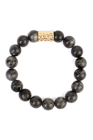 ARLO STONE BRACELET in BLACK