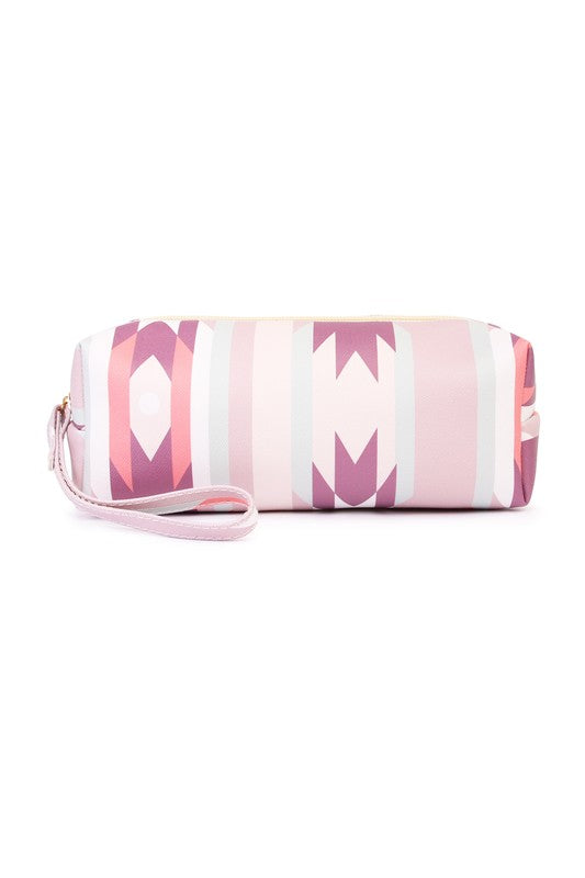 PINK TRIBAL COSMETIC BAG