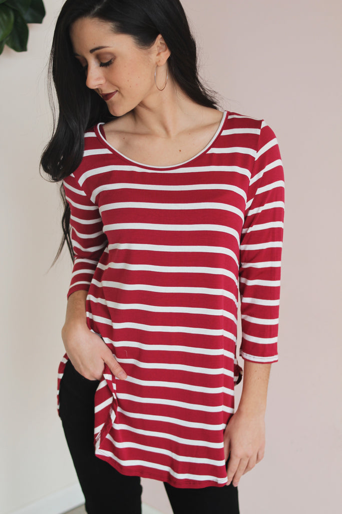 MERLOT STRIPED BASIC