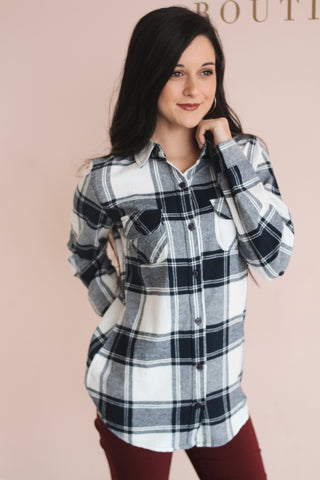NORTH FLANNEL BUTTON DOWN
