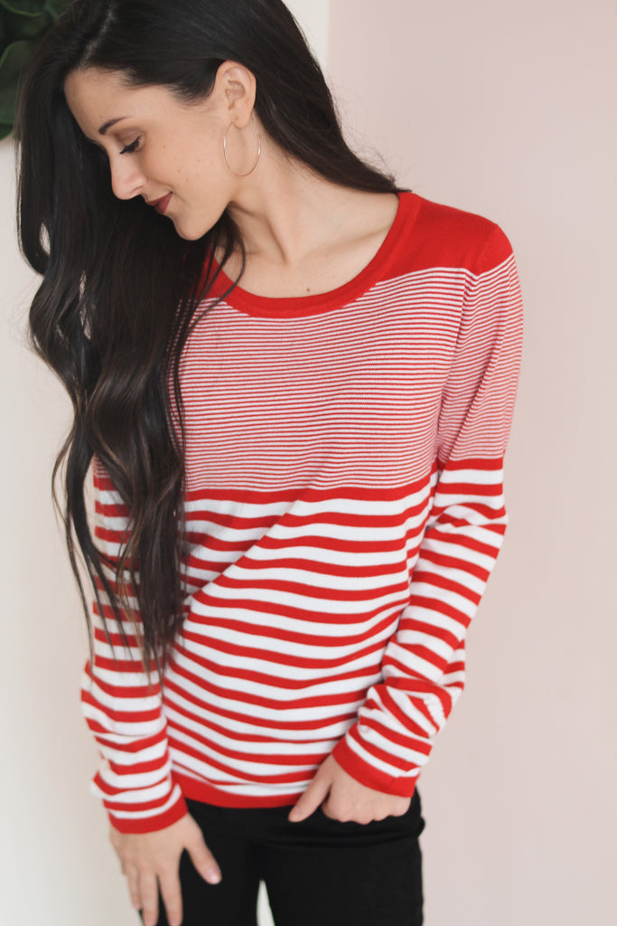 ROSA STRIPED SWEATER