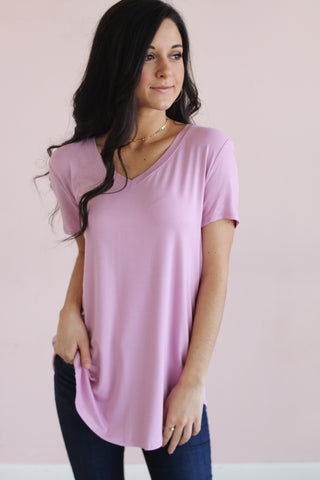 The Essential Tee in Orchid