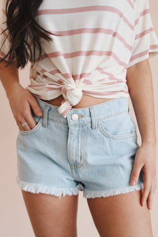 LARK LIGHTWASH CUTOFFS