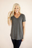 The Essential Tee in Charcoal