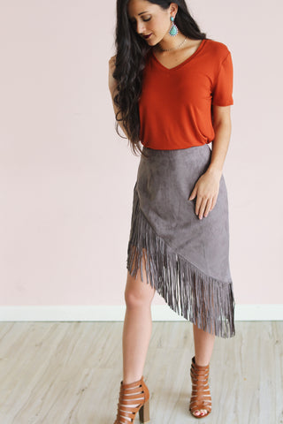 BLACK HILLS SUEDE SKIRT