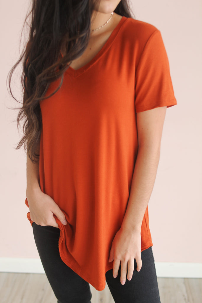 Essential Tee in Copper