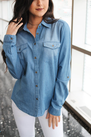 JAX DENIM BUTTON DOWN