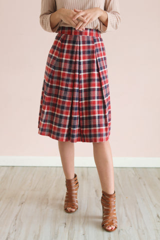 Free Falling Flannel Skirt