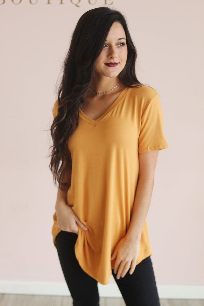 Essential Tee in Mustard