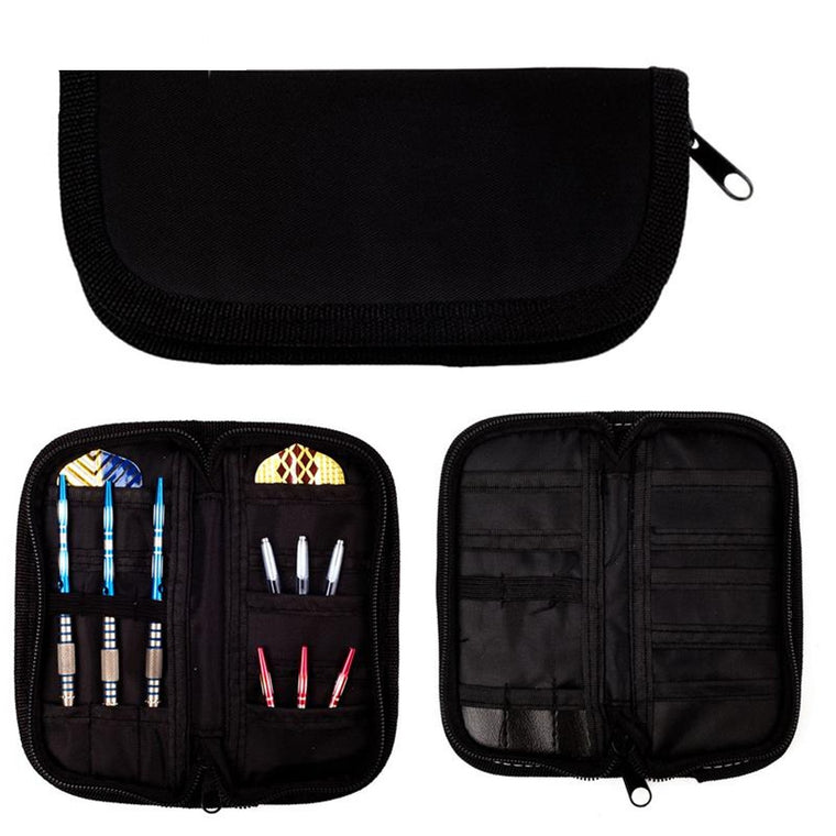 1 Set Darts Accessories Carry Case Wallet Pockets Holder Storing Bag Black Durable FY0080